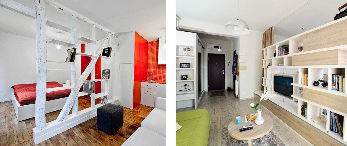 зонирование квартиры студии