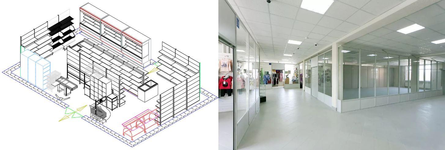 Проект перепланировки магазина