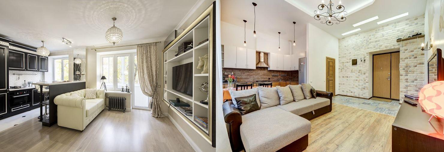 Варианты переделки двухкомнатной квартиры