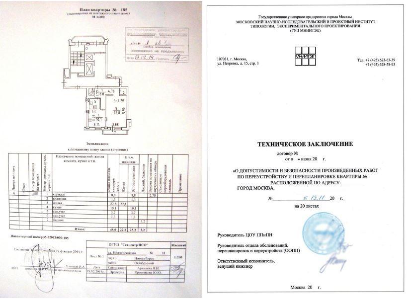 Техпаспорт БТИ и Техническое заключение
