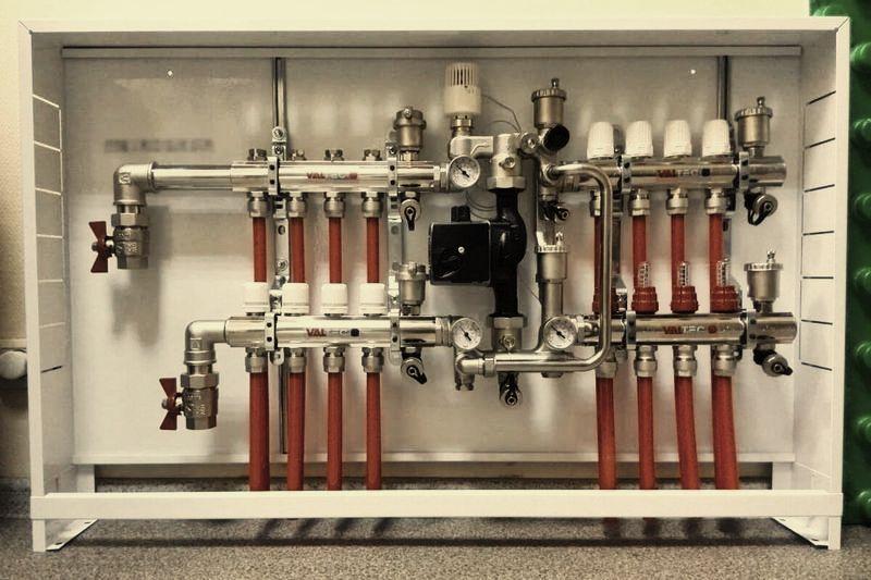 Коллекторный шкаф для отопления