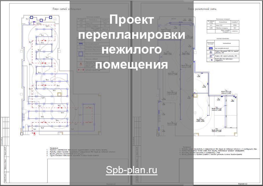 Проект перепланировки нежилого помещения